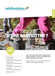 Liste des babysitter Anniviers
