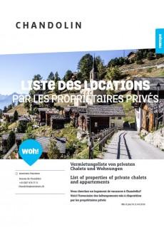 Chandolin - Liste des locations par les propriétaires privés
