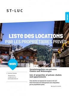 St-Luc - Liste des locations par les propriétaires privés